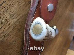 Ruana Custom Handmade Vintage Hunting Knife Tapered Stag and Brass Handle