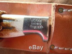 Ruana Knife Bonner Mt. 10B Smoke Jumper