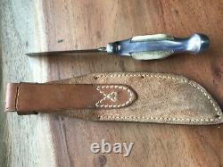 Ruana Knife Rudy Ruana M Stamp Model 14b With Sheath Excellent