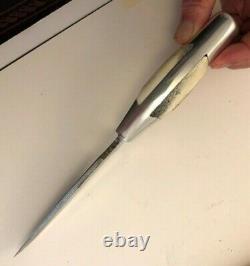 Ruana Knife (model 27) Elk scales Bonner Montana Drop Point Blade Full Tang