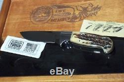 Schrade D'holder North American Hunting Club Life Member Stag Knife&display Used