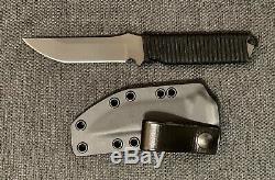 Spartan Blades Formido Black Fixed Blade Knife With Custom Paracord & Kydex Sheath