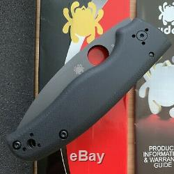 Spyderco C229GPBK Shaman Plain Edge CMP-S30V Folding Pocket Knife Black G10