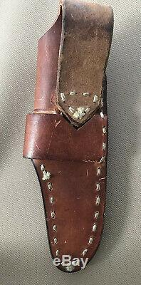 Sunrise River Custom Handmade Knife By Jay Maines- WithLeather Sheath- Used-VGC