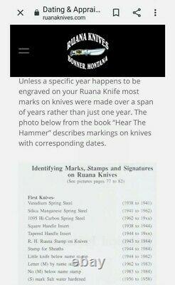 Super Rare 75+/- year old Rudy Ruana Knife with little knife stamp 1944 1962