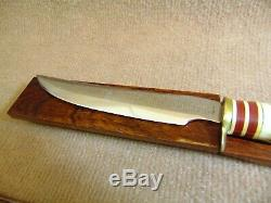Super Rare Vintage Queen Vietnam Era Recon 11 5/8 Stag Knife with Original Sheath