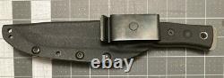 TOPS fieldcraft BOB bushcraft knife stainless steel blade hunter black handle