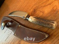 Treeman Behring Stag Handled Skinner Knife