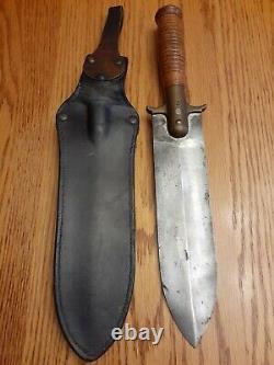 U. S. M 1880 Cavalry Springfield Armory Hunting Knife W /scabbard Indian Wars Era