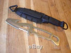 Used Buck 185 Tiburon Diving Knife Ed Gillette 1st Production Run Kydex Sheath