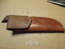 Used Rare Chandler Dal Heart pictograph. Custom Knife Stag Handle Buffalo
