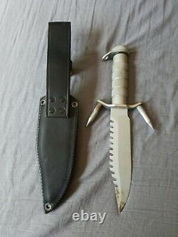 VALOR MIAMI COMPASS 440 STAINLESS JAPAN HUNTING SURVIVAL KNIFE with Sheath Rare