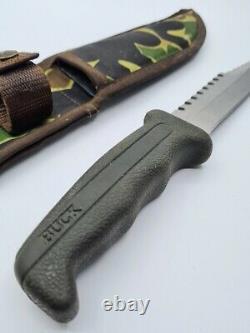 VINTAGE 1980's BUCK 639 FIELDMATE USA SURVIVAL FIXED BLADE KNIFE + SHEATH