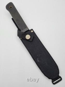 VINTAGE 1990's COLD STEEL SRK MADE IN USA FIXED BLADE KNIFE + SHEATH CARBON V
