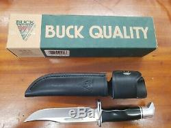 VINTAGE 1995 BUCK 119 KNIFE NEVER USED IN BOX. Leather sheath