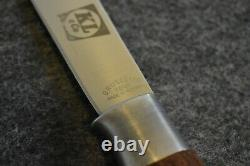 VINTAGE BRUSLETTO GEILO HUNTER (KL & CO.) KNIFE With WOOD HANDLE (MADE IN NORWAY)