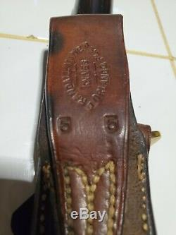 VNTG RANDALL MADE KNIVES MODEL 5/5 CAMP KNIFE 1960's WithSHEATH EXC COND SEE DESC