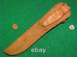 VTG HUNT BUCK 60s BLADE LignumVitae Handle USA KNIFE ORIG SHEATH #1 fold case