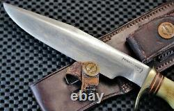 Very Old RANDALL Knife. 5-6. Br. Button Heiser. Pin-Stag Finger Grips Liberty Dime