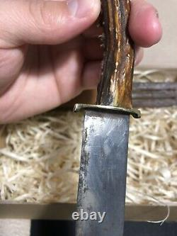 Very Rare Old Vintage hunting knife Solingen pre-war with Sheath Germany