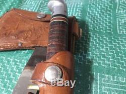 Vinatge Western Boulder Colorado U. S. A Hunting Knife Axe Hatchet Set