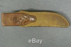 Vintage 1947-49 Handmade RANDALL Model 4 6 Hunting Knife Brown Button Sheath