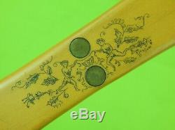 Vintage 1970's Custom Handmade Engraved Bowie Hunting Fighting Knife