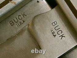 Vintage'68-72 Buck USA 115 Combo Twin Set Knives 103 118 Hunting Skinning Knife