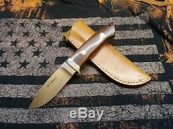 Vintage AG Russell knife Loveless Japan drop point hunter custom ATS-34 withcase
