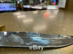Vintage Bianchi Nighthawk survival knife withe leather sheath