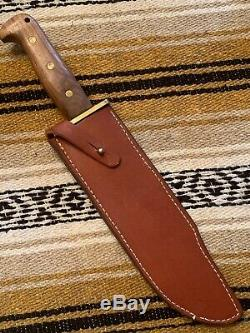 Vintage Blackjack Shining Mountains Bowie Hunting Survival Knife WithLeather Case