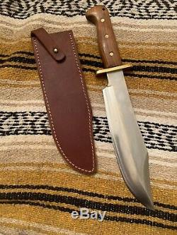 Vintage Blackjack Shining Mountains Hunting Bowie Knife WithCase For Edge Design