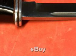 Vintage Buck 120 General Knife 2 Liner Blade Pre 1972 Flat Leather Sheath Clean