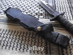 Vintage Buck Hollow Handle Survival Knife Black Anodized Buckmaster 184 Knife