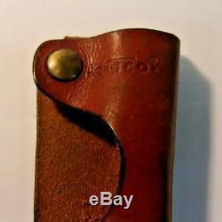 Vintage CUTCO Hunting Knife #1769 Brown D-D Edge & Cutco leather sheath