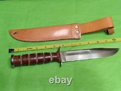 Vintage Camillus USA 1009 Trailblazer Sword Brand Fixed Blade Fighting Knife