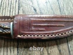 Vintage Case XX 3 1/4 Fixed Blade Fishing/Hunting Knife With Sheath Stag Handle