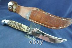 Vintage Craftsman Skinner Hunting Knife with Sheath