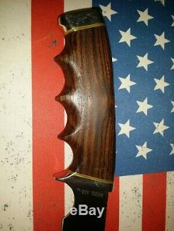 Vintage Gerber 525 Hunting Knife With Sheath 5 1/4 Blade 10 Long