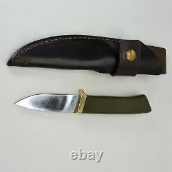 Vintage Gerber Model C325 Fixed Blade Hunting Knife With Sheath
