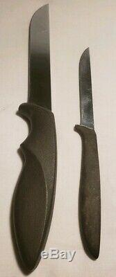 Vintage Gerber Shorty & Pixie Knife with Leather Piggyback Sheath