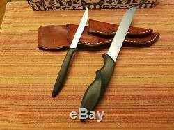 Vintage Gerber Shorty & Pixie Knife with Leather Piggyback Sheath in Original Box