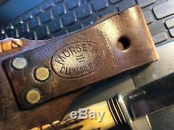 Vintage Harry Morseth Hunting Knife One Piece Stag Safe Loc Sheath
