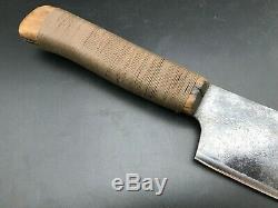 Vintage Lamb Splitter razor sharp Big Game Buffalo butcher knife custom sheath