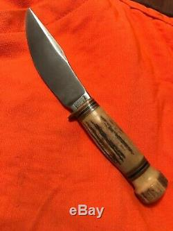 Vintage Marbles Gladstone Mich. Woodcraft Stag On Stag Antler Hunting Knife
