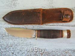 Vintage Marbles Hunting Skinning Fixed Blade Knife with Stag Pommel