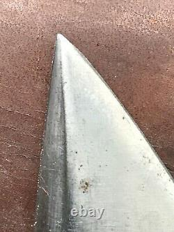 Vintage Marbles Stag Handle Fixed Blade Knife With Sheath Gladstone Michigan USA