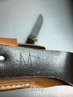 Vintage ORIGINAL GERBER C-425 Knife LEATHER Sheath marked
