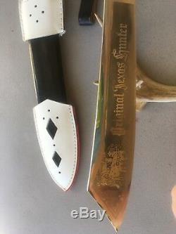 Vintage Original Texas Hunter German Knife Rad Hewer Bowie EDGE BRAND Type 2