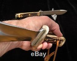 Vintage PUMA Knife Waidbesteck, silver logo box Waidblatt 3588 Nicker 3588,1974